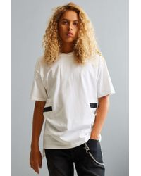 Urban Outfitters | White Uo Ricardo Taped Tee | Lyst