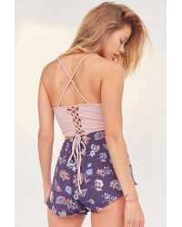 Silence + Noise - Pink All Tied Up Cropped Cami - Lyst