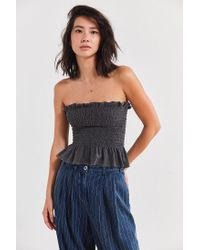 Truly Madly Deeply - Black Loren Smocked Tube Top - Lyst