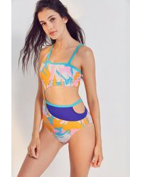 Out From Under - Orange Toni Asymmetrical Camo One-piece Swimsuit - Lyst