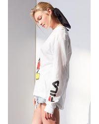 Fila - White + Uo Mickey Long Sleeve Disney Tee - Lyst