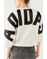 Adidas Originals - Gray Originals 3/4-sleeve Sweatshirt - Lyst