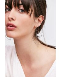 Urban Outfitters - Metallic Circle Chain Statement Earring - Lyst