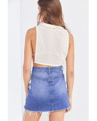 Kimchi Blue - White Edelweiss Open-side Eyelet Top - Lyst