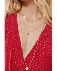 Urban Outfitters - Metallic Avi Charm Layering Necklace Set - Lyst