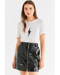 Truly Madly Deeply | White Lightning Bolt Cut-out Tee | Lyst