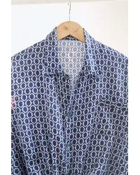 Urban Renewal - Blue Vintage Navy Link Print Silky Pajama Top - Lyst