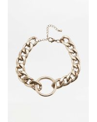 Urban Outfitters - Metallic Super Chunky Chain Choker Necklace - Womens All - Lyst