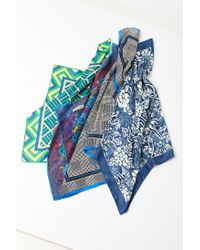 Urban Outfitters - Blue Vintage Silky Printed Square Scarf - Lyst