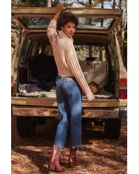 7f9a92aa Lyst - Urban Renewal Vintage Wrangler Cropped Jean in Blue