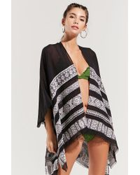 Urban Outfitters - Black Summer Jacquard Scarf Cover-up - Lyst
