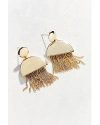 Urban Outfitters - Metallic Mia Fringe Statement Drop Earring - Lyst