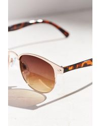 Urban Outfitters | Metallic Camille Painted Square Sunglasses | Lyst