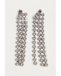 Urban Outfitters - Metallic Chunky Rhinestone Tassel Drop Earrings - Lyst