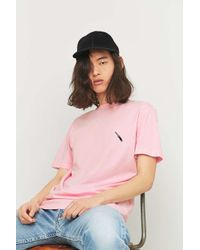 Urban Outfitters - Pink Embroidered Knife T-shirt for Men - Lyst