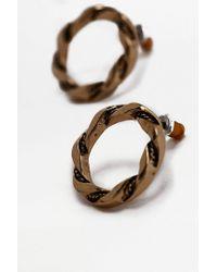 Urban Outfitters - Metallic Vintage Twist Circle Stud Earrings - Lyst