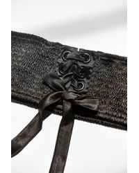 Urban Outfitters - Black Sophia Satin Corset Belt - Lyst