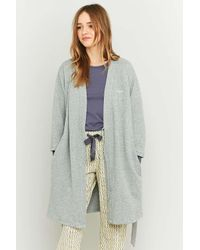 Calvin Klein | Gray Grey Quilted Dressing Gown | Lyst