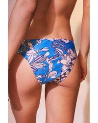 MINKPINK - Blue Aquabomb Floral Mid-rise Bikini Bottoms - Lyst