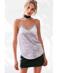 Kimchi Blue | Purple After Hours Velvet Lace Cami | Lyst