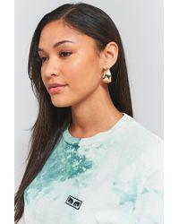 Urban Outfitters | Metallic Large Flat Hoop Earrings | Lyst