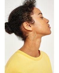 Urban Outfitters - Metallic Heart Hoop Earrings - Lyst