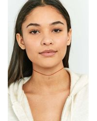 Urban Outfitters | Orange Cord And Charm Choker Necklace | Lyst