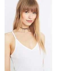 Urban Outfitters - Metallic Bow And Chain Choker Necklace - Lyst