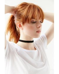 Urban Outfitters - Black Lace Choker Necklace - Lyst
