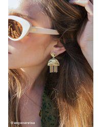 Urban Outfitters - Metallic Mia Fringe Statement Drop Earring - Lyst