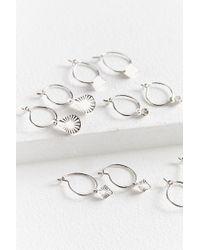 Urban Outfitters - Metallic Charmed Mini Hoop Earring Set - Lyst