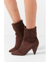 Urban Outfitters - Brown Short Scrunch Boot - Lyst