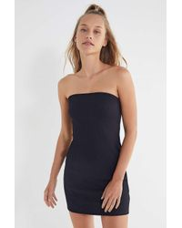 Urban Outfitters - Black Uo Heather Ribbed Knit Tube Dress - Lyst