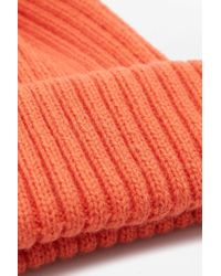 Urban Outfitters - Blood Orange Ribbed Beanie for Men - Lyst