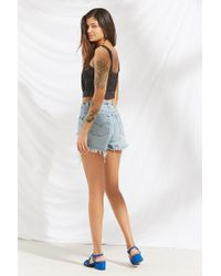 Urban Outfitters - Blue Urban Renewal Remade Destroyed Denim Levi's Short - Lyst