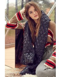 Urban Outfitters - Black Puffer Blanket Scarf - Lyst