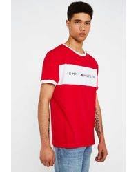 62d00bc1 Tommy Hilfiger Red Flag Logo T-shirt - Mens S in Red for Men - Lyst