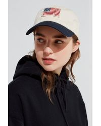 Urban Outfitters - White Usa Flag Slouch Hat - Lyst