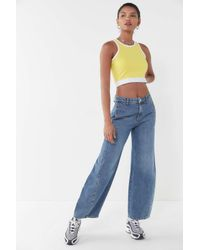 Truly Madly Deeply - Yellow Corrie Cropped Tank Top - Lyst