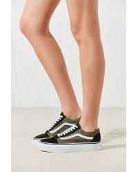Vans - Green Old Skool Platform Sneaker - Lyst