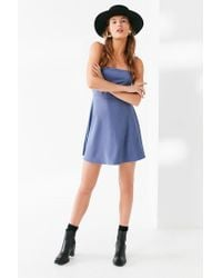 Urban Outfitters - Blue Uo Textured Tie-back Mini Dress - Lyst