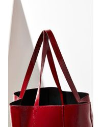 Urban Outfitters - Red Patent Faux Leather Tote Bag - Lyst