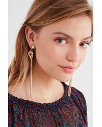 Urban Outfitters - Metallic Easley Fringe Drop Earring - Lyst