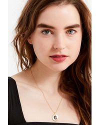 Urban Outfitters - Metallic Therese Stone Pendant Necklace - Lyst