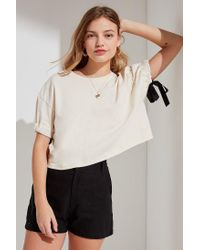 Urban Outfitters - Multicolor Urban Renewal Recycled Gathered Ribbon Tee - Lyst