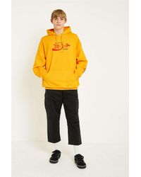 Urban Outfitters - Yellow Uo Gold Coca-cola Hoodie for Men - Lyst