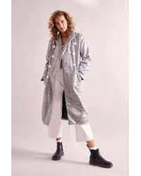 0444371e0ff97 House Of Sunny Tailored Nostalgia Plaid Trench Coat - Womens Uk 8 - Lyst