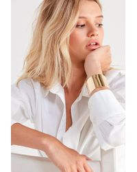 Urban Outfitters - Metallic Statement Cuff Bracelet - Lyst