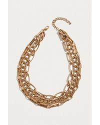 Urban Outfitters | Metallic Chunky Layered Chain Necklace | Lyst