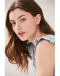 Urban Outfitters - Metallic Stacked Shape Drop Earring - Lyst